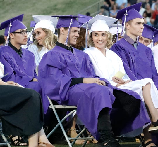 Shasta High School seniors attend commencement on June 6, 2019. However, graduation ceremonies for the Class of 2020 are up in the air due to the coronavirus pandemic.