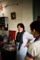 Robin Seyfert, founder of Basha Boutique, works to help formerly-trafficked Bangladeshi women gain the skills they need to get back on their feet