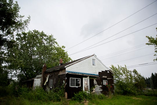 A house that will be torn down on North James Street to make way for a new subdivision is pictured in Silverton on June 6, 2019.