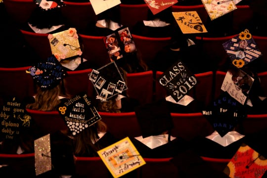 Graduates attend the Early College High School and Roberts Teen Parent Program commencement at the Elsinore Theatre in Salem on June 6, 2019.