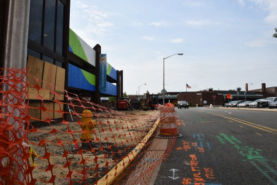 A view of active construction on South Division Street in Salisbury, Maryland, on Friday June 7, 2019. This space is set to be a food truck pad before the National Folk Festival.
