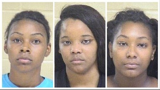 From left to right: Jerricka Deal, Brelyn Randolph and Breanna Combs.