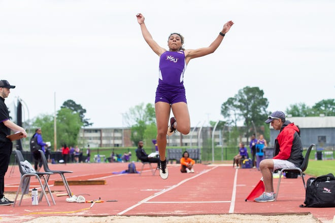 NSU jumper Jasmyn Steels earned the silver medal at the NCAA Championships on Thursday.