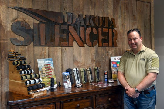 Brandon Maddox, founder of Dakota Silencer, stands in the main lobby of his renovated business Friday, June 7, in Sioux Falls.