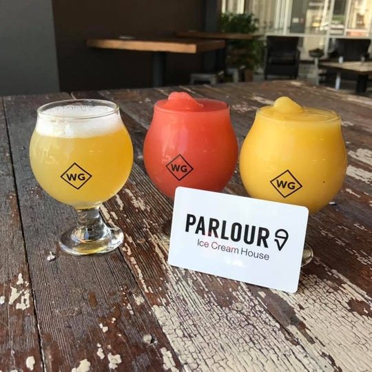 WoodGrain Brewing Co. and Parlour Ice Cream House are teaming up to make Sour Sourbet slushies, available this weekend.
