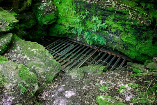 This cave, which has been sealed up, could be impacted by the project to extend Kansas Expressway.