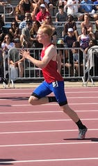 St. Cloud Apollo senior Ben Theisen finished his heat of the boys' Class 2A 100-meter dash in 11.2 seconds Friday in St. Paul.