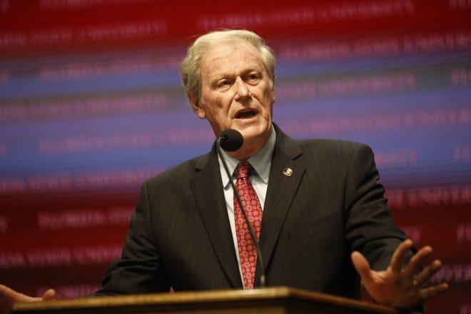 Florida State University President John Thrasher .