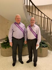 Ed Patterson, left, and David Sims are telling their story to raise awareness about early Alzheimer's diagnosis.