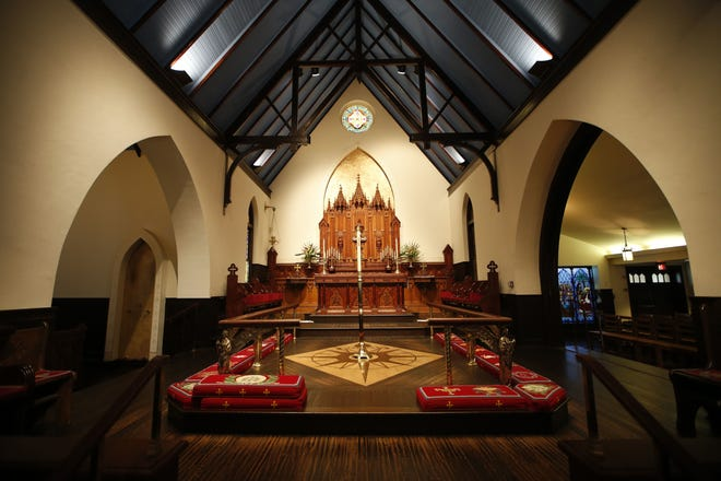 The altar of St. John's Episcopal Church in downtown Tallahassee.