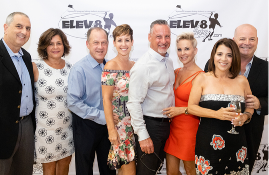 Noah and Bonnie Joffe, left, Brendan and Lisa McQuillan, Adam and Ilene Emanuel and Jamie and Larry Shemesh at Elev8Hope's Stories of Hope dinner at the Kane Center.