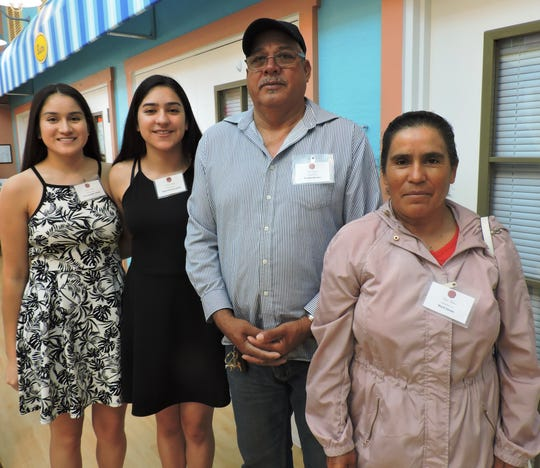 Nina Haven Scholarship recipient Adileni Morales-Zavala, second from left, with Yadira Morales-Zavala and parents Enrique Morales and Maria Zavala at the Nina Haven Circle of Scholars Reception.