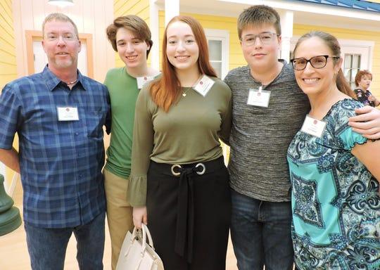 Nina Haven Scholarship recipient Jacqueline Freedman, center, with father Jason Freedman, Brett Freedman, Connor Freedman and mother Tisha Freedman at the Nina Haven Circle of Scholars Reception.