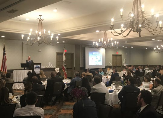 Oxnard Mayor Tim Flynn gave a State of the City address on Friday at Embassy Suites by Hilton Mandalay Beach Resort.