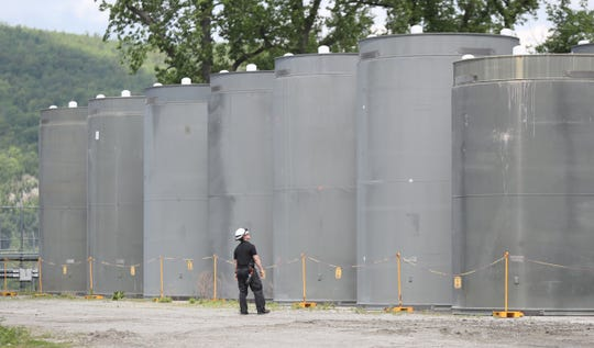 Nuclear fuel dry cask storage facility at Indian Point Energy Center in Buchanan on Monday, May 20, 2019.