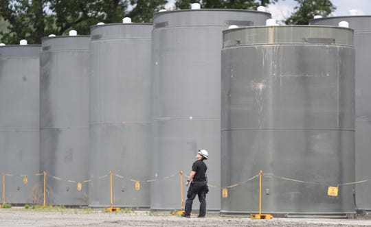 A daily safety inspection ofdry cask storage facility is performed at the Indian Point Energy Center in Buchanan on Monday, May 20, 2019.