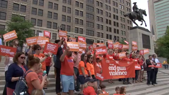 The Delaware chapter of Moms Demand Action for Gun Sense in America held a rally at Rodney Square on National Gun Violence Awareness Day.  6/7/19