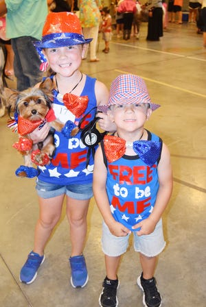 In this file photo, young participants in the annual Jim Bowie Days festivities, even the four-legged kind, showcase their patriotic spirit during one of the many events. This year's celebration, which includes a parade and rodeo, runs June 23-29.