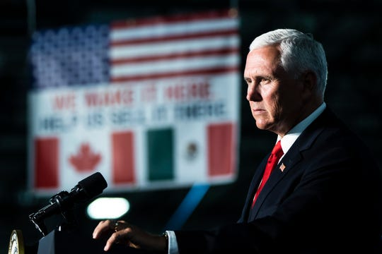 Vice President Mike Pence speaks at JLS Automation in York, Pa., Thursday, June 6, 2019.