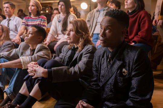 "Danielle Cooper as Wanda, Sandra Bernhard as Nurse Judy and  Billy Porter as Pray Tell on ""Pose."""