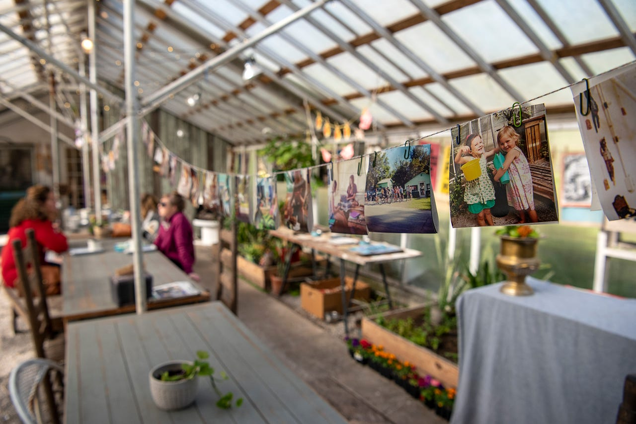 The Greenhouse on Porter has a communal dining area in its former plant-raising space that invites conversation.