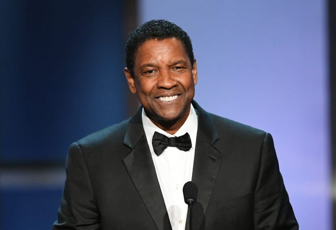 Honoree Denzel Washington speaks onstage while receiving the 47th AFI Life Achievement Award on June 6.