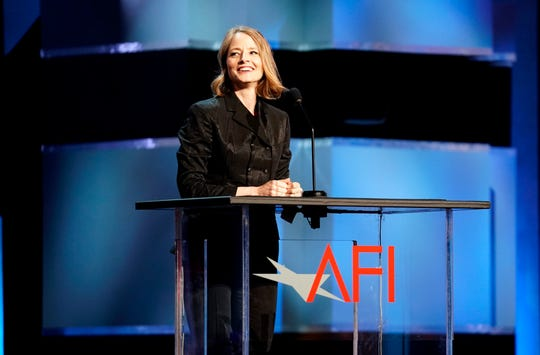 HOLLYWOOD, CALIFORNIA - JUNE 06: Jodie Foster speaks onstage during the 47th AFI Life Achievement Award honoring Denzel Washington at Dolby Theatre on June 06, 2019 in Hollywood, California. (Photo by Erik Voake/Getty Images for WarnerMedia) 610530 ORG XMIT: 775350830 ORIG FILE ID: 1154313976