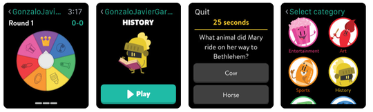 Tap away at the popular trivia game 'Trivia Crack,' which is available for Apple Watch.