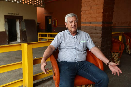 In this Wednesday, June 5, 2019 photo, Salvador Rosales, director of the family-run business Tequila Cascahuin, speaks during an interview in El Arenal, Jalisco state, Mexico.