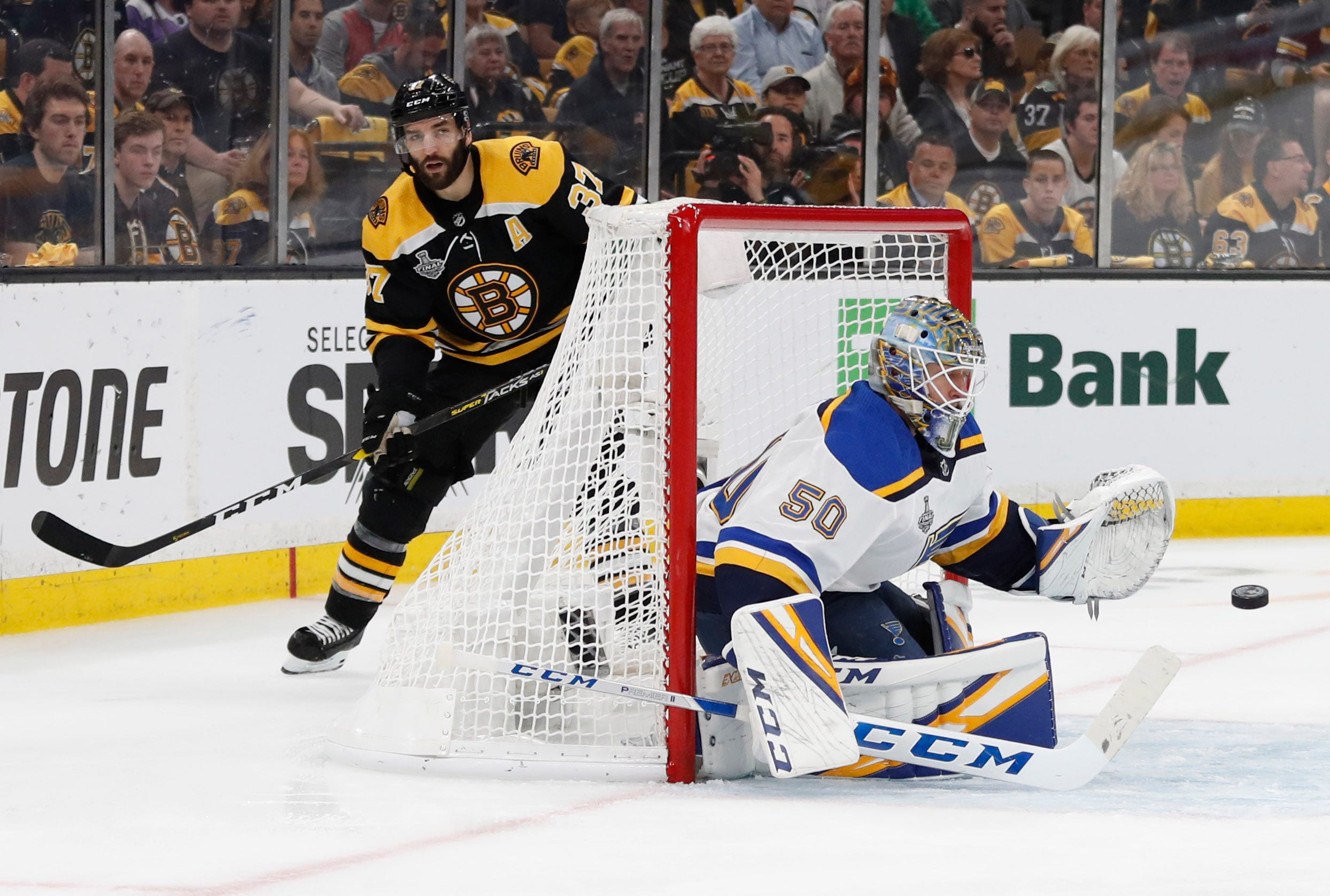 Stanley Cup Finals: Jordan Binnington helps Blues move one win from first championship