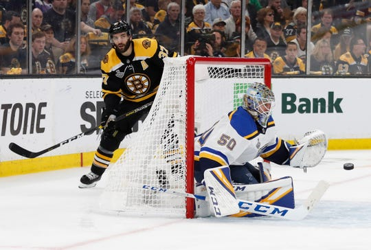 St. Louis Blues goaltender Jordan Binnington dominated Game 5 with 38 saves in a 2-1 victory.