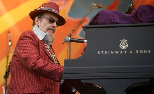 Dr. John performs during the 2008 New Orleans Jazz & Heritage Festival in New Orleans on April 26, 2008.