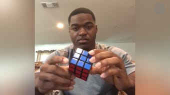 Dallas Cowboys wide receiver Amari Cooper can do more than just run routes and catch passes. He can solve a Rubik's Cube insanely fast.