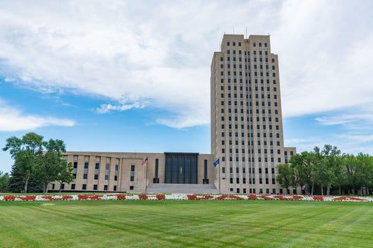 The North Dakota Capitol in Bismarck