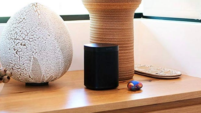 Control your music hands-free with the Alexa-enabled Sonos One.