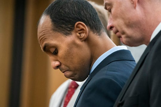 Former Minneapolis police officer Mohamed Noor reads a statement at Hennepin County District Court on June 7, 2019, in Minneapolis, before being sentenced in the fatal shooting of Justine Ruszczyk Damond.