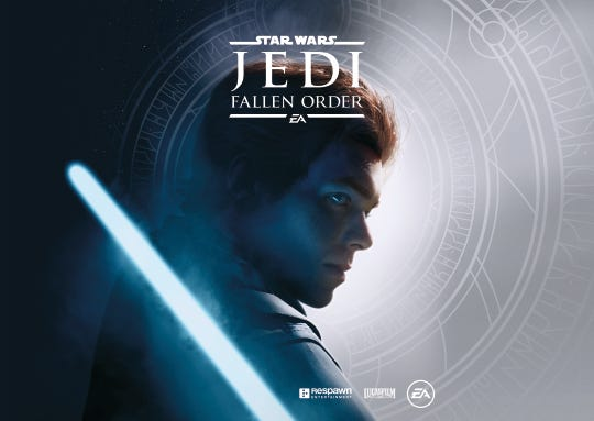 Box art for the upcoming video game 'Star Wars Jedi: Fallen Order.'