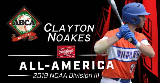 Louisiana College's Clayton Noakes was named as an ABCA/Rawlings All-American May 31.