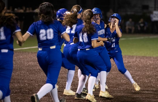 Donovan Catholic Girls Softball shuts out Cedar Grove in NJSIAA Tournament of Champions game at Seton Hall University on June 7, 2019.
