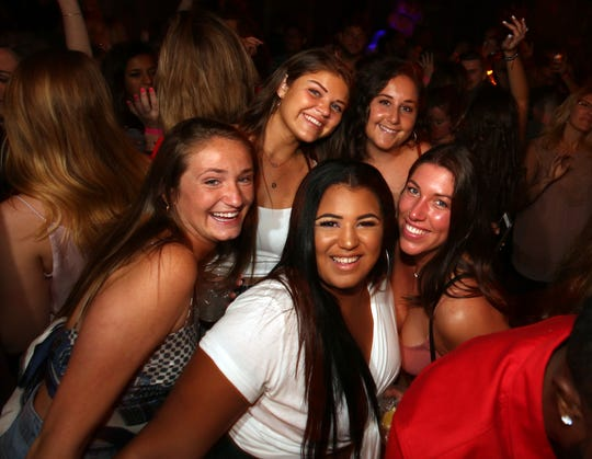 Patrons enjoy a night at Porta in Asbury Park, New Jersey on Friday, June 7, 2019.