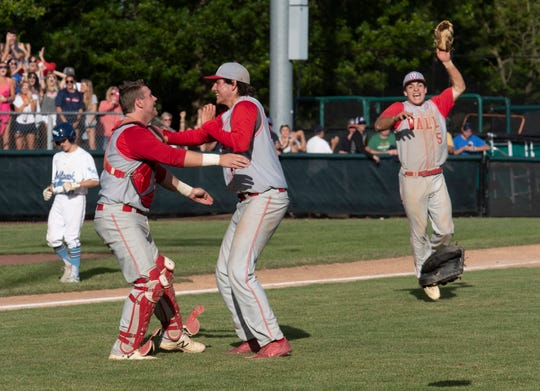 Wall Twp. High School Baseball defeats West Morris Central 10-2 in NJSIAA State Group 3 Baseball Championship in Hamilton, NJ on June 8, 2019.