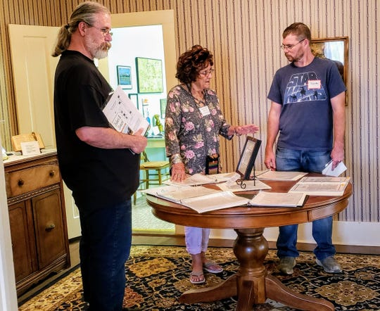 Guests to the Robert E. Howard Museum during 2019's Howard Days get some context on the writer from Project Pride docent Bettie Cavanaugh on Saturday.