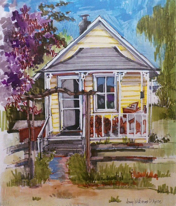 """""""Vanishing Bainbridge,"""" a show of new works by Amy D'Apice, is on offer through June at Bainbridge Arts and Crafts."""