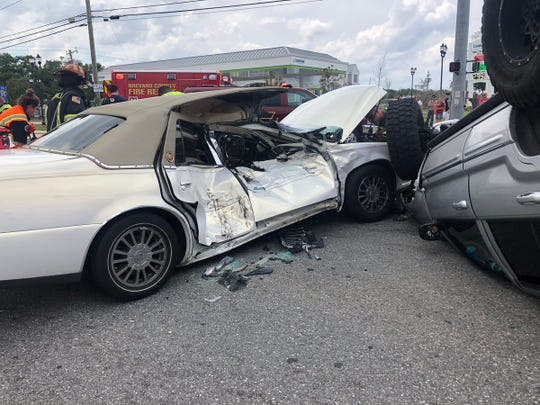 One person airlifted after Titusville crash near Garden Street.