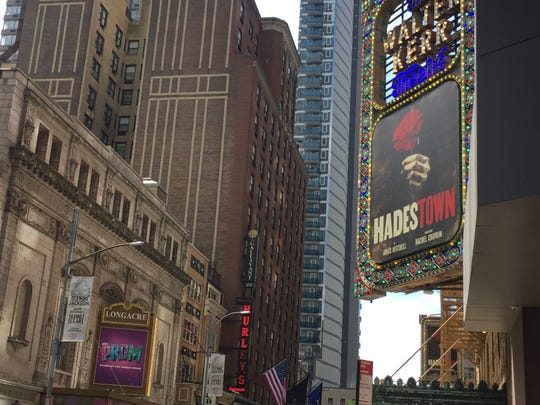 "Considered by many to be the front-runners for Best Musical at the 2019 Tony Awards, ""Hadestown"" and ""The Prom"" are staged on the opposite sides of 48th Street in Manhattan."