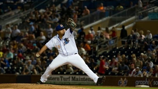 Moody graduate Mike Franco pitches for the Triple-A Durham Bulls.