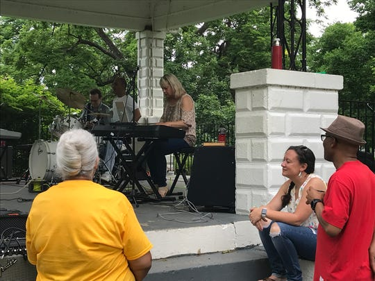 The BBJ Band plays during the Juneteenth Celebration in Yoctangee Park on June 8, 2019.