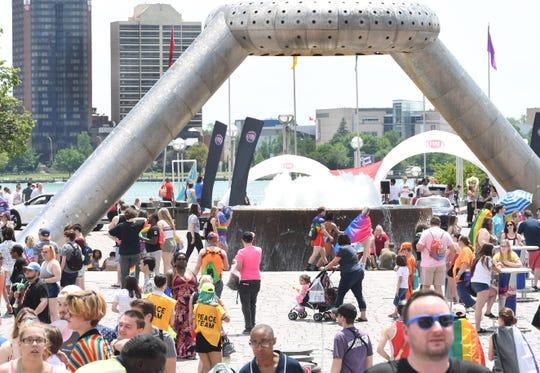 Motor City Pride festival in Hart Plaza in Detroit.