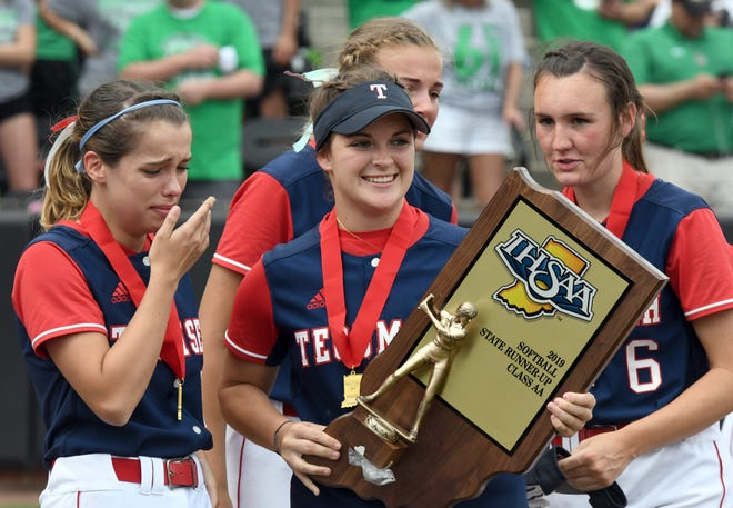 Tears and smiles were mixed together following Tecumseh's 2-1 loss in the Class 2A State Softball Finals to Bremen in West Lafayette on June 8, 2019.