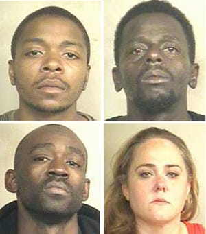 Clockwise from top: Javarca Myers, Jermaine Robinson, April Lang and Aram Cain.